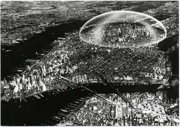 buckminster fuller dome over manhatten